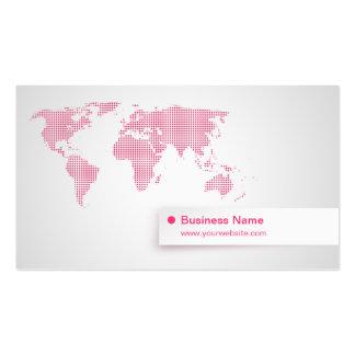 Carte de visite (rose) de carte du monde