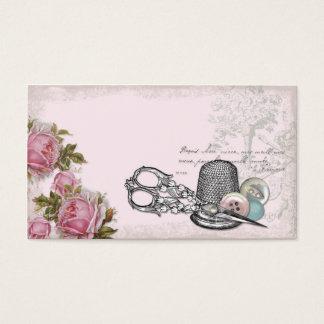 Carte de visite ROSE de couture de notions