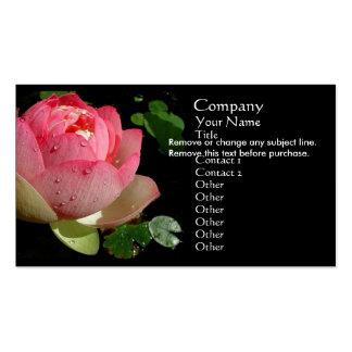 Carte de visite rose de nénuphar