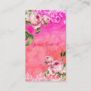 Carte De Visite Roses Vintages PixDezines Aquarelle