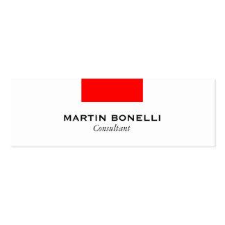 Carte de visite rouge blanc maigre de norme de carte de visite petit format