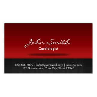 Carte de visite rouge de cardiologue d'étape