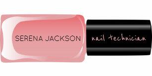 Carte De Visite Rougissent Le Manucure Noir Rose Bouteille