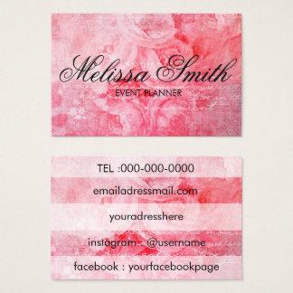 Carte de visite rustique de vieux rose rose