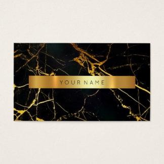 Carte de visite sale noir du marbre VIP d'or de