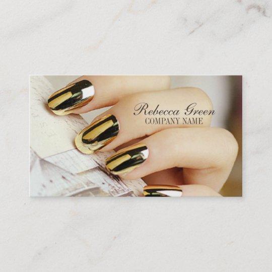 Carte De Visite Salon Elegant Moderne Dongle Dongles Manucure