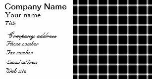 Carte De Visite Scintillement Lillusion Optique Grille