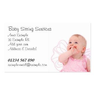 Carte de visite se reposant de services de bébé