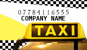 Carte De Visite Signe Et Bandes Jaunes Taxi