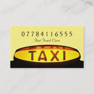 Carte De Visite Signe Jaune Taxi
