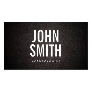 Carte de visite simple de cardiologue de caractère