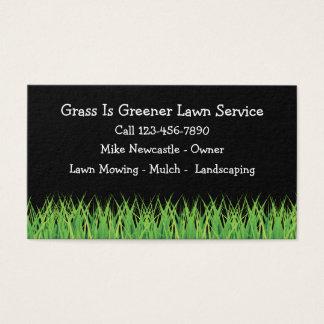 Carte de visite simple de service de pelouse