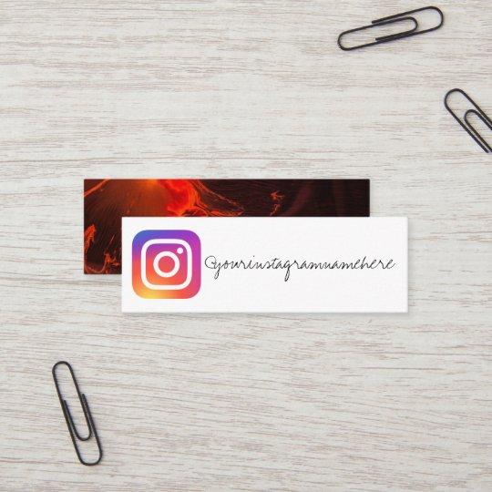 Carte De Visite Social Medias Dinstagram