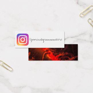 carte de visite social de médias d'instagram de