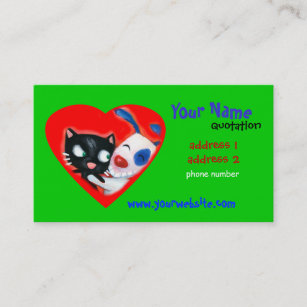 Carte De Visite Soin Des Animaux Familiers Veterinaires Amoureux