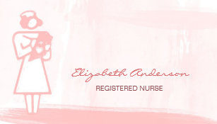 Carte De Visite Soins Sant Roses Girly Daquarelle Dinfirmier