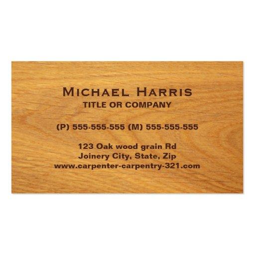 Carte de visite souillé en bois de chêne