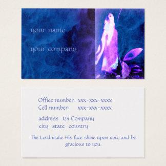 Carte de visite spirituel aux nuances du bleu