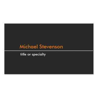 Carte de visite standard à la mode clair orange