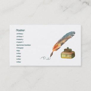 Carte De Visite Stylo Plume