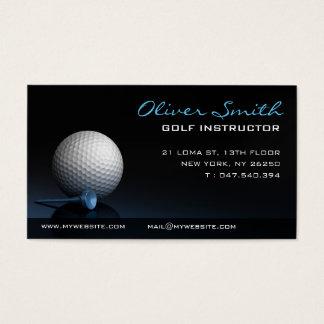 Carte de visite sur fond noir moniteur de golf