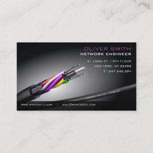 Carte De Visite Sur Fond Noir Rseau Fibre Optique