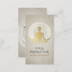 Carte De Visite Symbole Elegant ZEN Dinstructeur Meditation