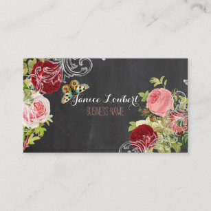 Carte De Visite Tableau PixDezines Roses Cru Redoute