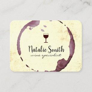 Carte De Visite Tache Vin Verre