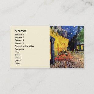 Carte De Visite Terrasse Cafe Van Gogh Sur Place Du Forum