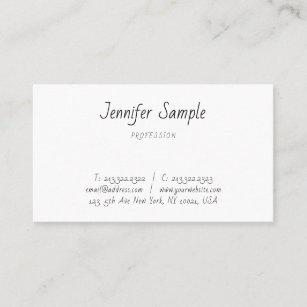 Carte De Visite Texte Moderne Minimaliste Manuscrit Main