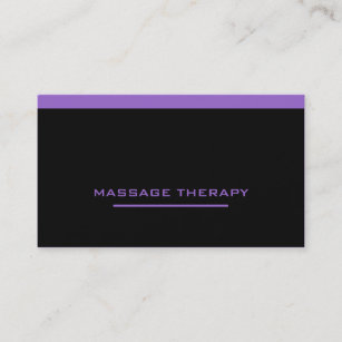 Cartes De Visite Massage Therapy
