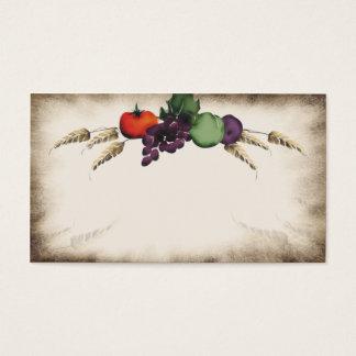 Carte de visite toscan de cuisine de fruit de blé