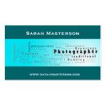 Carte de visite typographique vert de photographe