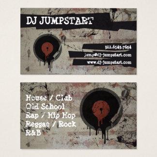 Carte de visite urbain du DJ de plaque tournante