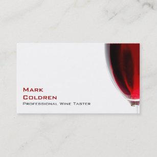 Carte De Visite Verre Vin Avec Le Rouge