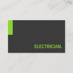 Carte De Visite Vert Buts Multiples Dlectricien