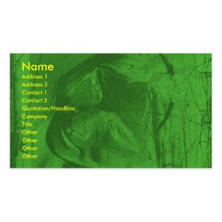 Carte de visite vert d'artiste de réflexions