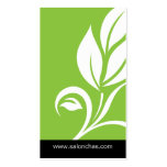 Carte de visite vert de spa de salon de feuille