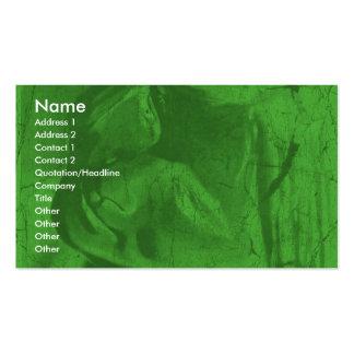 Carte de visite vert des réflexions I