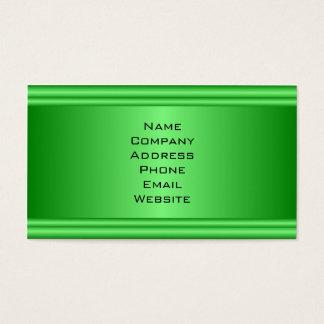 Carte de visite vert vibrant simple de regard en