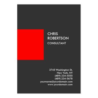 Carte de visite vertical rouge gris professionnel carte de visite grand format