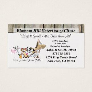 Carte de visite vétérinaire