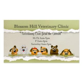 Cartes de visite pour vétérinaire