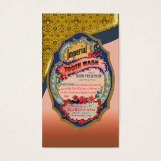 Carte de visite vintage d'affiche de lavage de