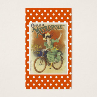 Carte de visite vintage de bicyclette