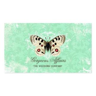 Carte de visite vintage de bleu de papillon