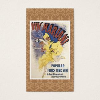 Carte de visite vintage de boisson alcoolisée