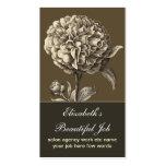 carte de visite vintage de fleur de fleur