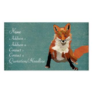 Carte de visite vintage de Fox d'ambre